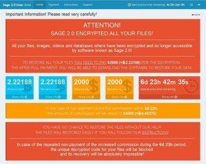 「Sage 2.0」「.sage」ランサムウェア感染拡大か?