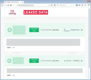 .LockBitランサムウェアがデータ漏洩サイトを公開
