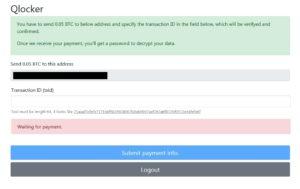 Qlockerランサムウェアがonionサイトを再開しました(.7z拡張子に暗号化)