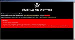 「.root」「.eye」「.cum」「.ALNBR」「.bdev」「.dhlp」「.HPJ」「.2122」拡張子に暗号化するDharmaランサムウェア